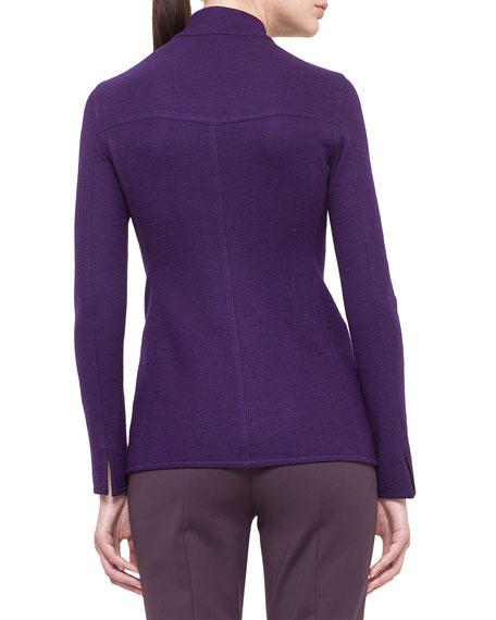 Cashmere-Blend Jersey Reversible Button Jacket