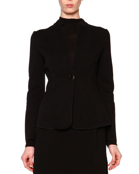 Giorgio Armani Wool-Blend Jersey Jacket