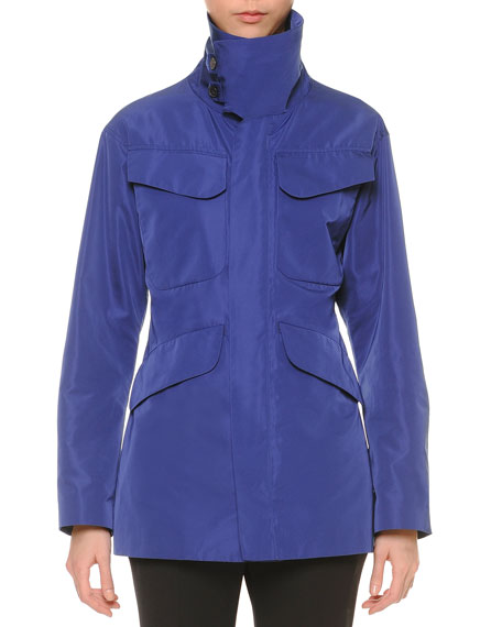 Jil Sander Funnel-Neck Hunting Jacket