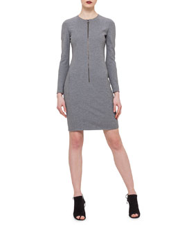 Front-Zip Sheath Dress