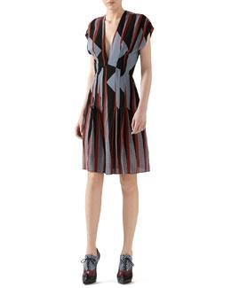 Triangle Print Silk Dress