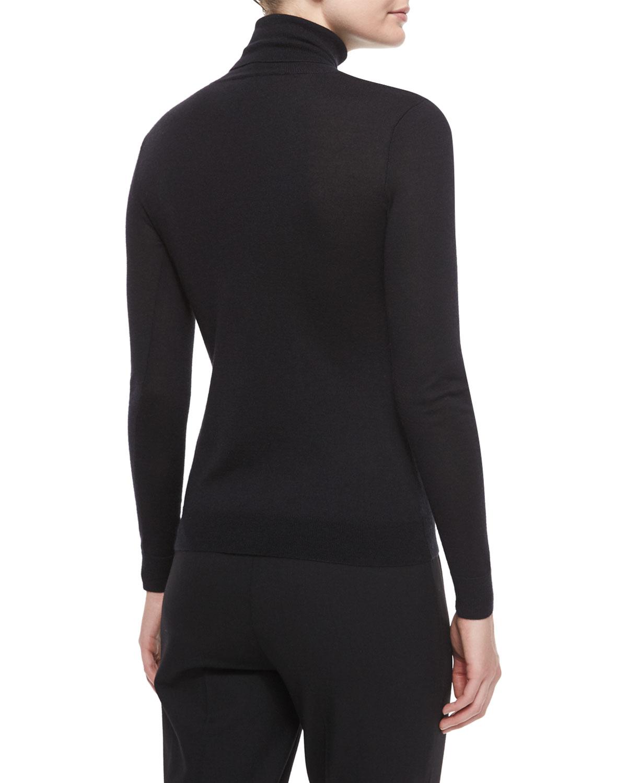 Ralph Lauren Black Label Cashmere Silk Blouse Knit Tan