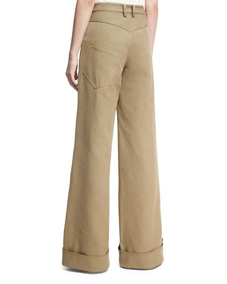 Wide-Leg Boy Pants, Tan