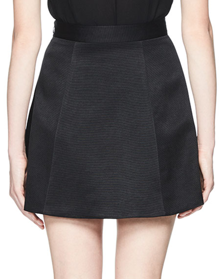 Tosca Flared Mini Skirt, Black
