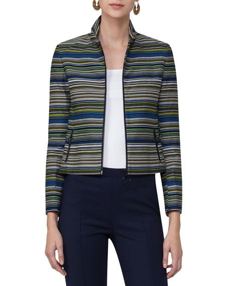 Paracas-Print Cropped Jacket, Multi