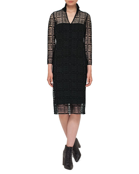 Eve Crocheted Bracelet-Sleeve Shirtdress