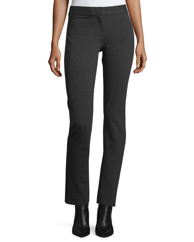 Mid-Rise Jersey Leggings, Charcoal