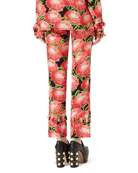 Floral-Print Pajama Pants, Multi