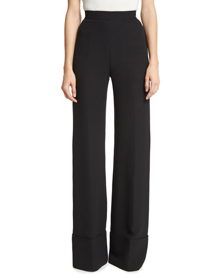 High-Waist Wide-Cuff Pants