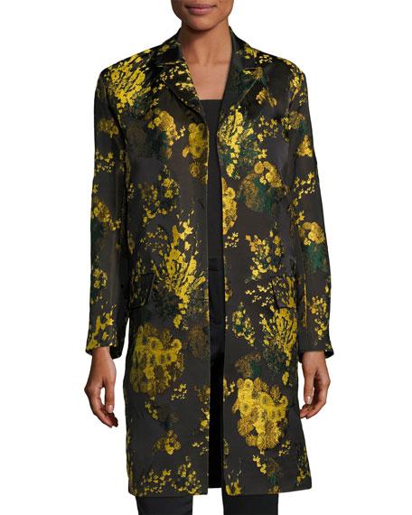 daaf7b0b80af Dries Van Noten Rolt Floral Jacquard Coat, Yellow