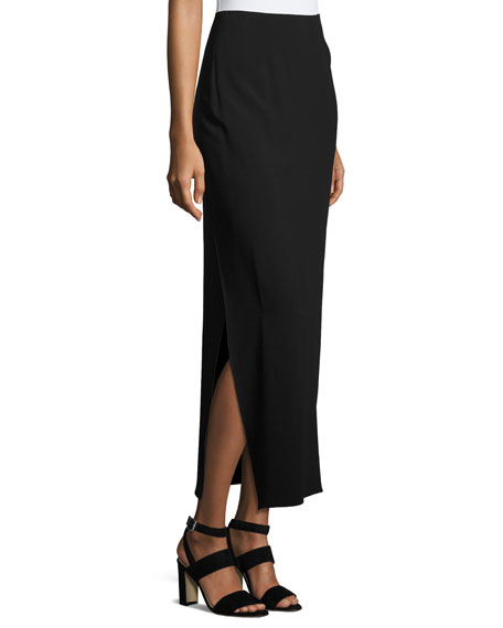 Anneliese Long Cady Skirt, Black