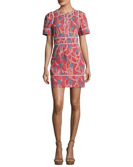 Umbria Short-Sleeve Cotton Dress
