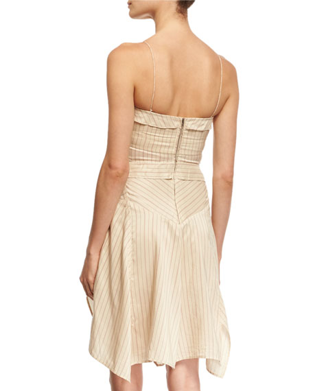 Shaper Striped Spaghetti-Strap Dress