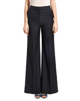 Birte Wide-Leg Trousers, Black