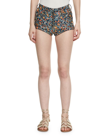 Prewitt Printed Leather Shorts, Multi