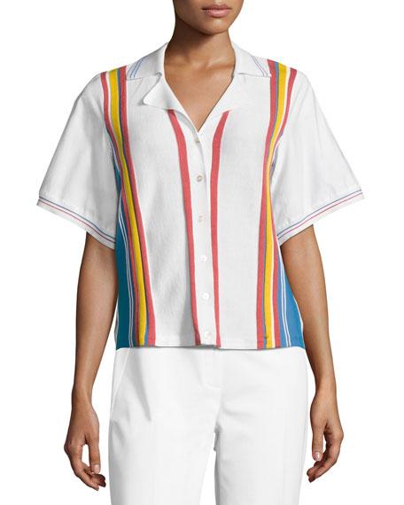 Bowling Striped Knit Top, Multi