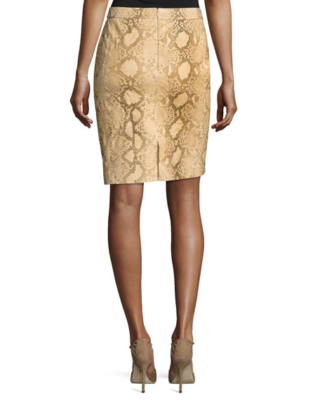 Tristan Python Pencil Skirt, Multi