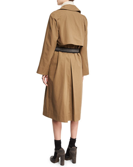 Cotton Canvas Double-Breasted Trenchcoat