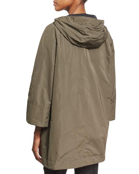 Taffeta Coat w/Monili Drawstrings
