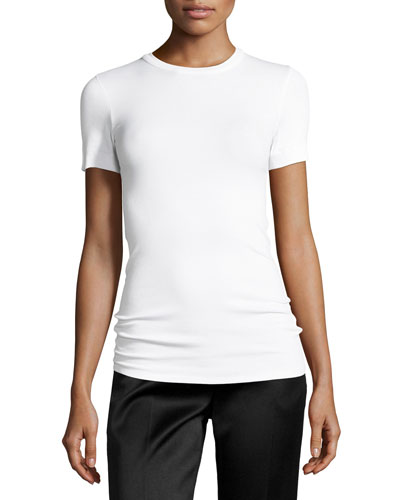 Ribbed Short-Sleeve T-Shirt