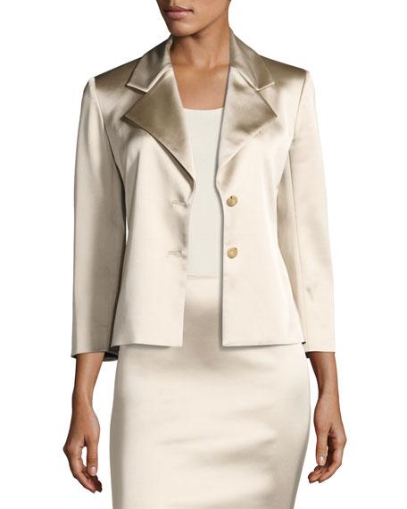 Noycan Satin Two-Button Jacket