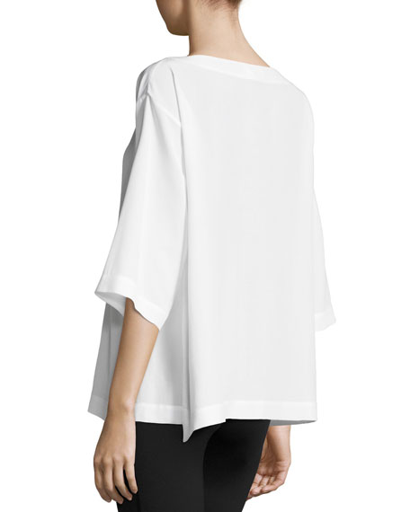 Silk Boat-Neck Top