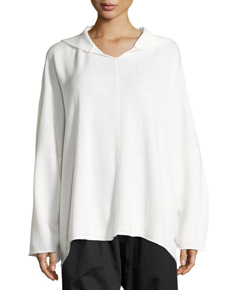 Hooded Merino Wool Sweater