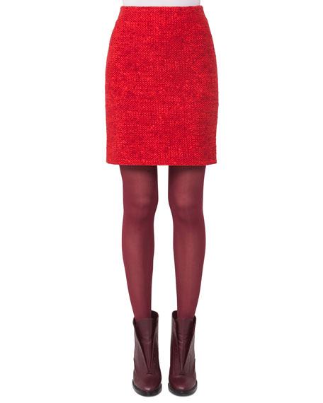 Melange Knit Mini Skirt