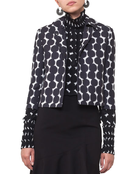 Akris punto Punto Dot Lace Cropped Jacket