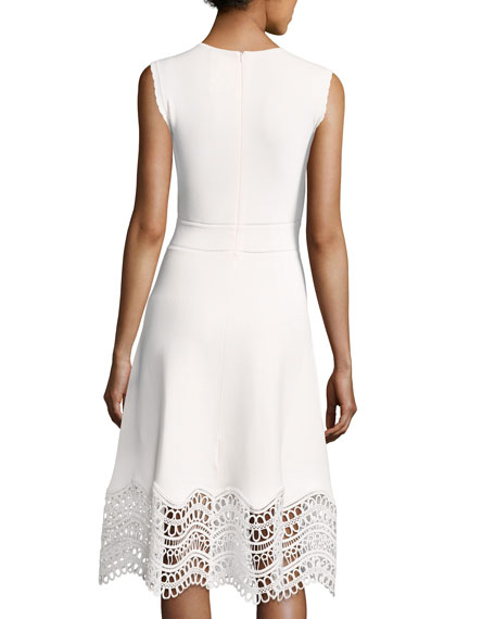 Sleeveless Lace-Hem Dress