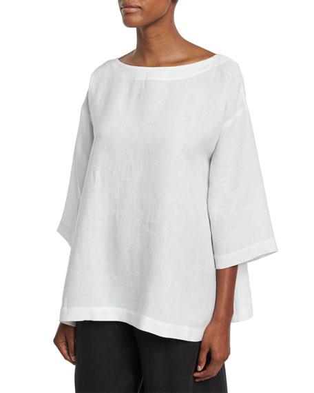 Boat-Neck Linen Tunic