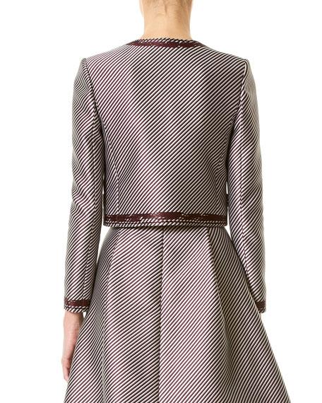 Striped Satin Jacket, Violet