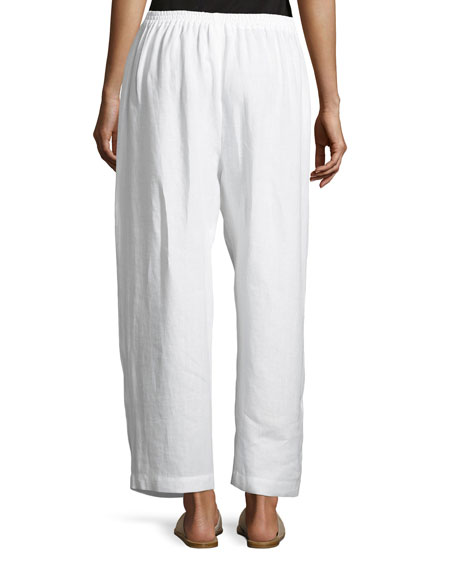Japanese Wide-Leg Cropped Trousers