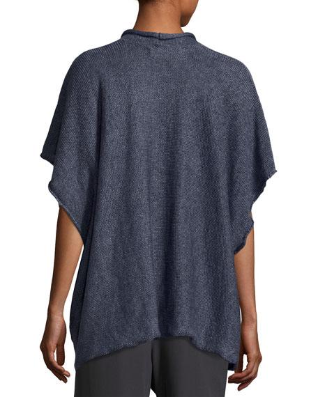 Short-Sleeve Linen Tabard, Indigo