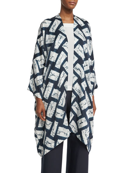 Rectangular Shibori Silk Jacket