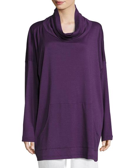 Pima Cotton Monks Top, Purple