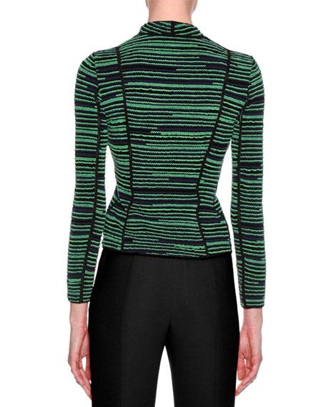 Ottoman Knit Jacket, Green