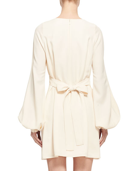 Button-Trim Cady Mini Dress
