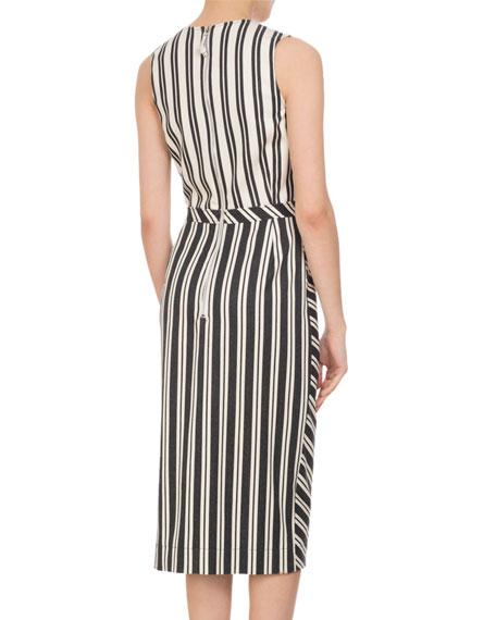 Desdemona Mixed Stripe Sheath Dress, Multi