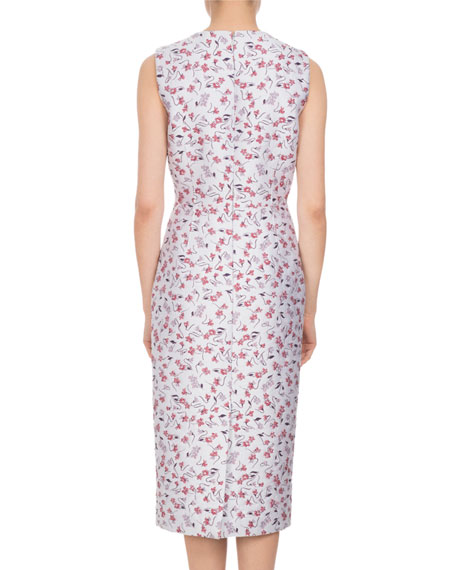 Tess Sleeveless Floral Sheath Dress, Multi