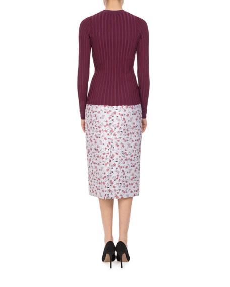 Honeysuckle Floral-Print Skirt