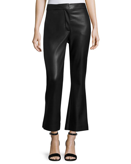 Cropped Pleater Pants, Black