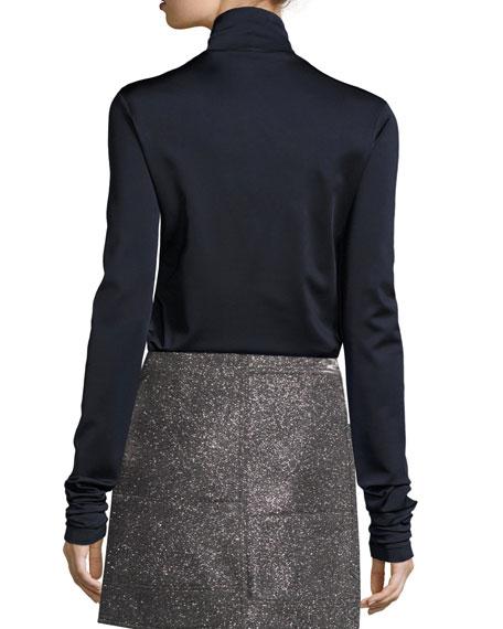 Jersey Turtleneck Sweater, Dark Blue