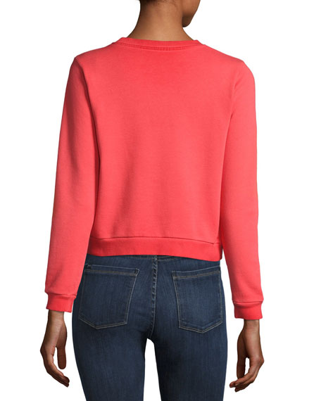Mickey Mouse Crewneck Sweatshirt, Red