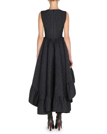 b94c5c0ea815 Fendi Sleeveless High-Low Jacquard Gown