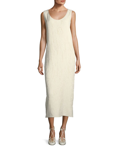 Yellin Plisse Silk Midi Dress