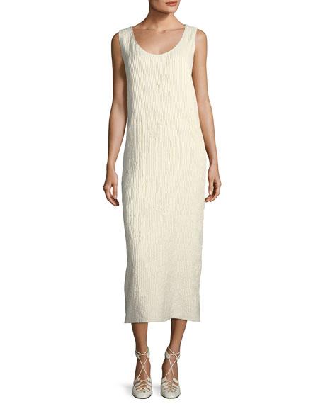 Yellin Plisse Silk Midi Dress
