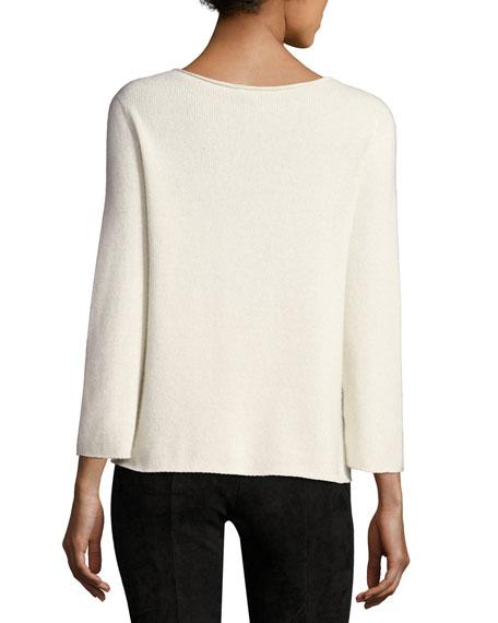 Jette Bracelet-Sleeve Cashmere Top