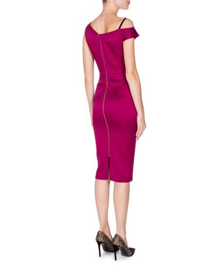 Asymmetric One-Shoulder Peplum Dress