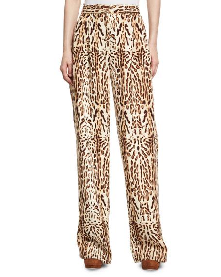 Leopard-Print Menswear Pants